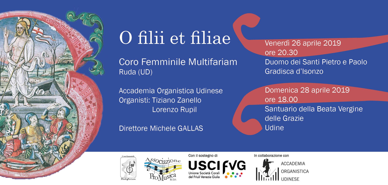 O filii et filiae, i concerti del coro per il cartellone di Paschalia